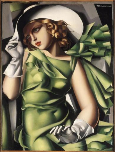 Jeune fille en vert - Tamara de Lempicka (1927)