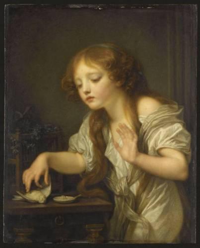 L'oiseau mort - Jean-Baptiste Greuze (1800)